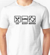 Eat Sleep Movies Unisex T-Shirt