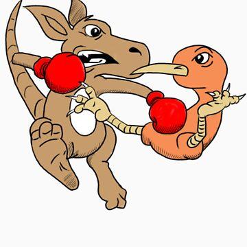 Roo vs Kiwi by whistlingboy