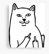 F*ckU Cat - Lord Nermal Metal Print