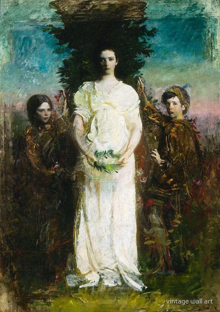 Abbott Handerson Thayer - My Children, 1897 by fineearth
