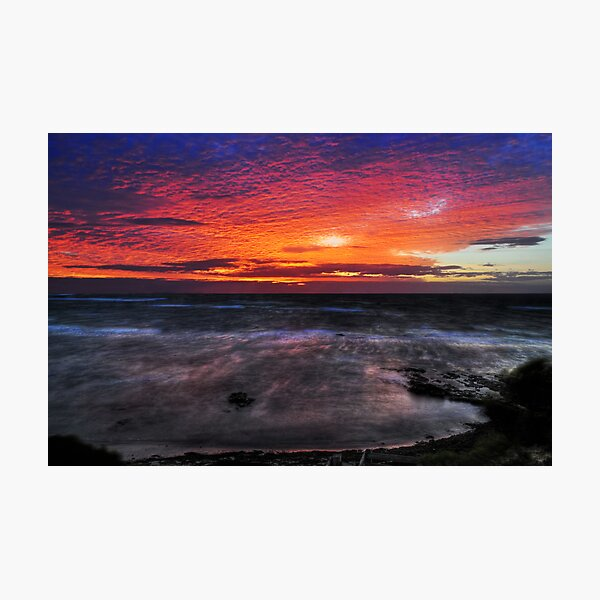 Flaming sky Photographic Print