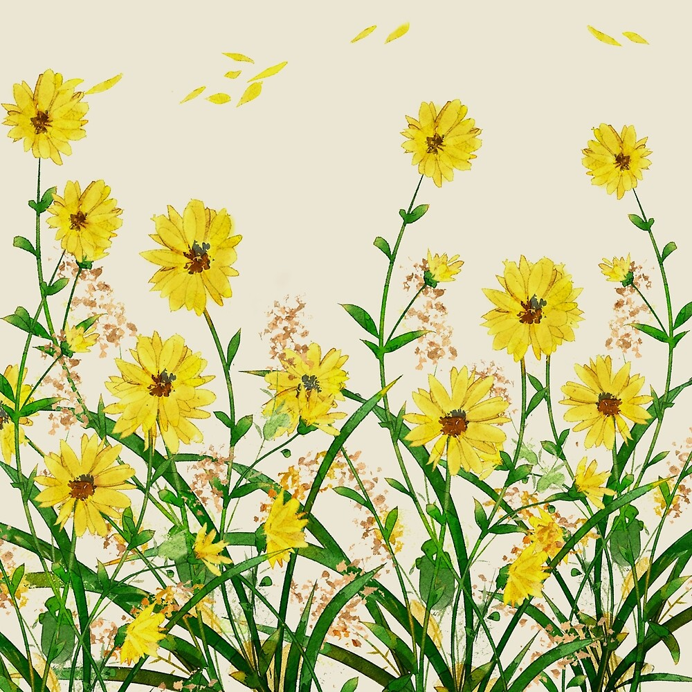 Yellow Wildflowers by Nadjaa