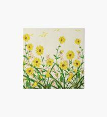 Yellow Wildflowers Art Board