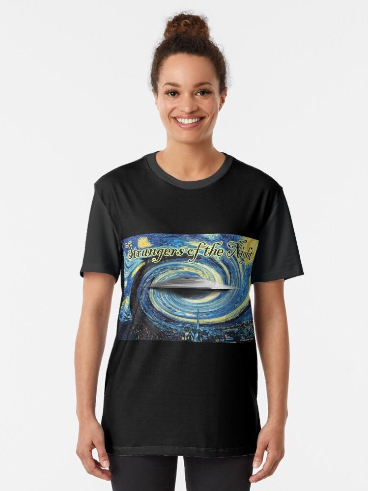 Alternate view of Strangers of the Night Graphic T-Shirt