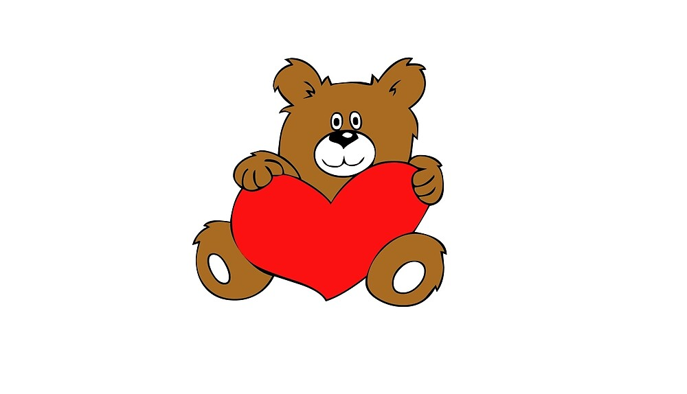 Valentine Bear gift| Love Couple | Friendship bear gift I Love Bear heart by Al Collections