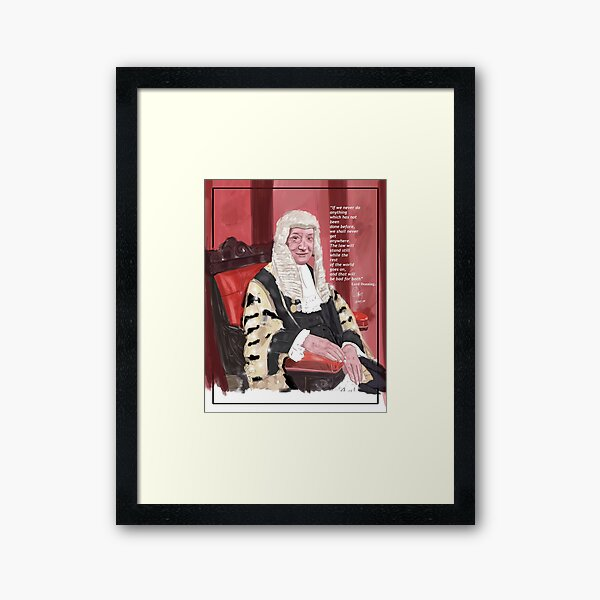 Lord Denning and the Law Framed Art Print