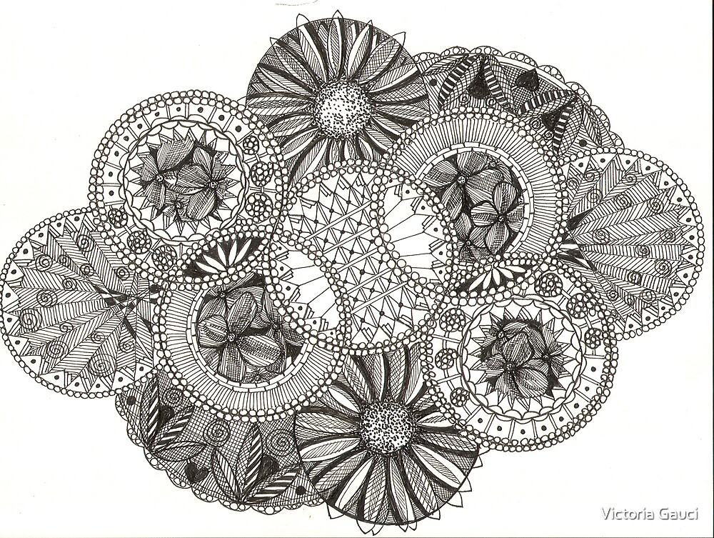 Circles To Make A Jewel by Victoria Gauci