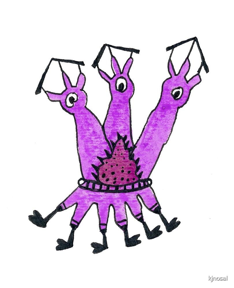 Purple 3 Eyed 6 foot Monster wear Shoes by kjnosal