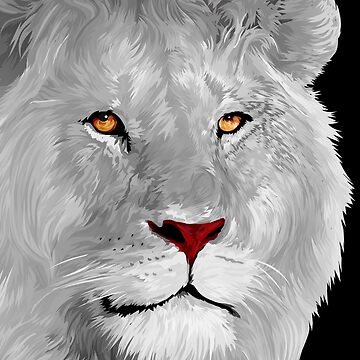 White albino lion by GreenLight08