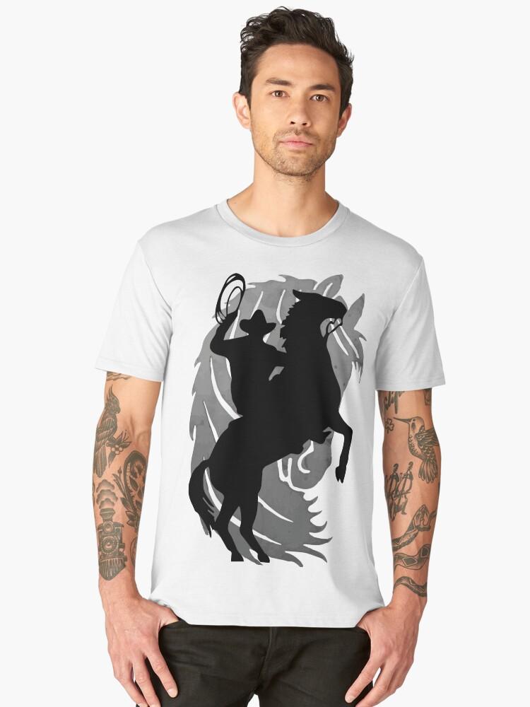 cowboy Men's Premium T-Shirt Front