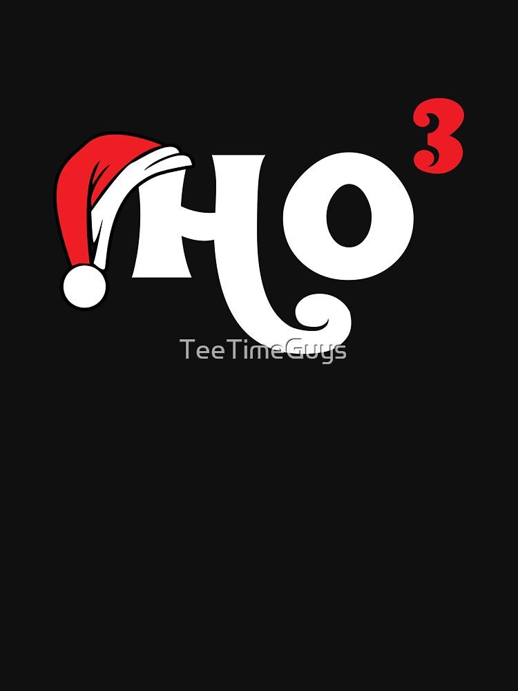 Ho Ho Ho Cubed T-Shirt   Funny Christmas Math Geek Tee by TeeTimeGuys