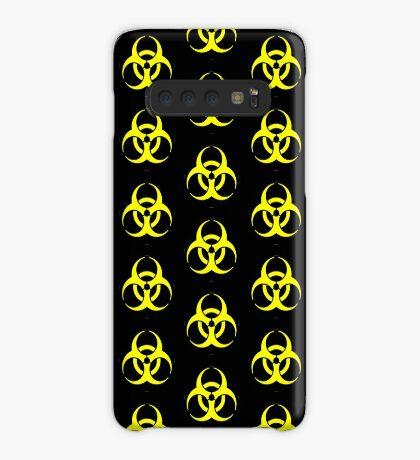 Biohazard Yellow on Black Case/Skin for Samsung Galaxy