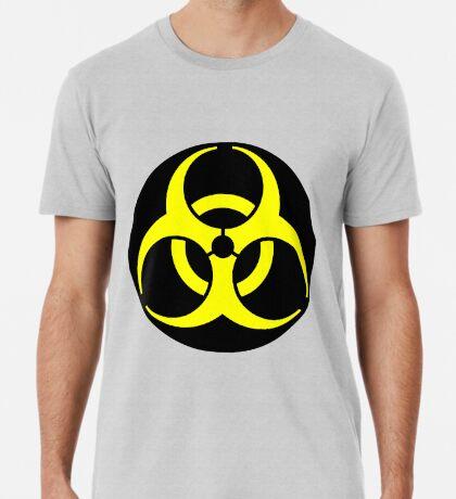 Biohazard Yellow on Black Premium T-Shirt