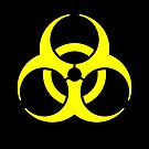 Biohazard Yellow on Black by Rupert Russell