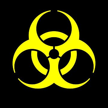 Biohazard Yellow on Black by rupertrussell