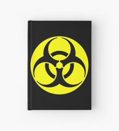 Biohazard Yellow on Black Hardcover Journal
