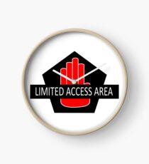 Zone d'accès limité Horloge