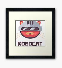 ROBOCAT - Funny Cat Cop Comic Cartoon Design Framed Print