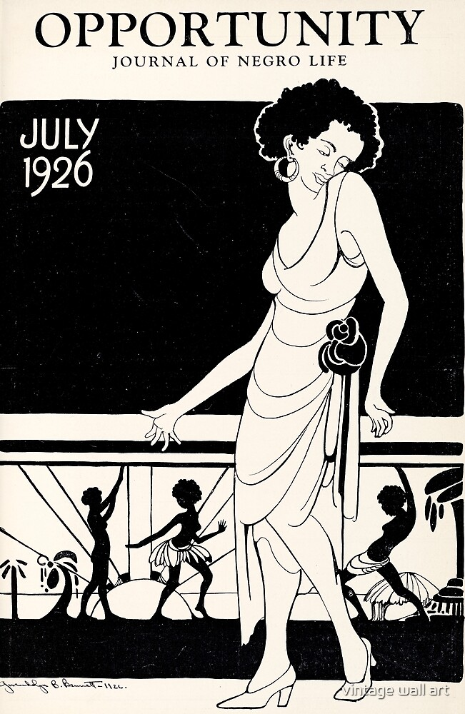 1920s African American Magazine Cover - Harlem Renaissance by fineearth