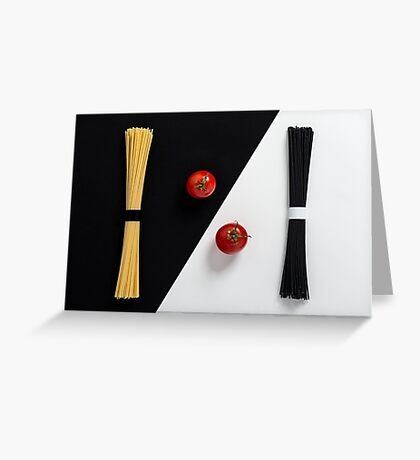 Ying Yang Spaghetti Greeting Card