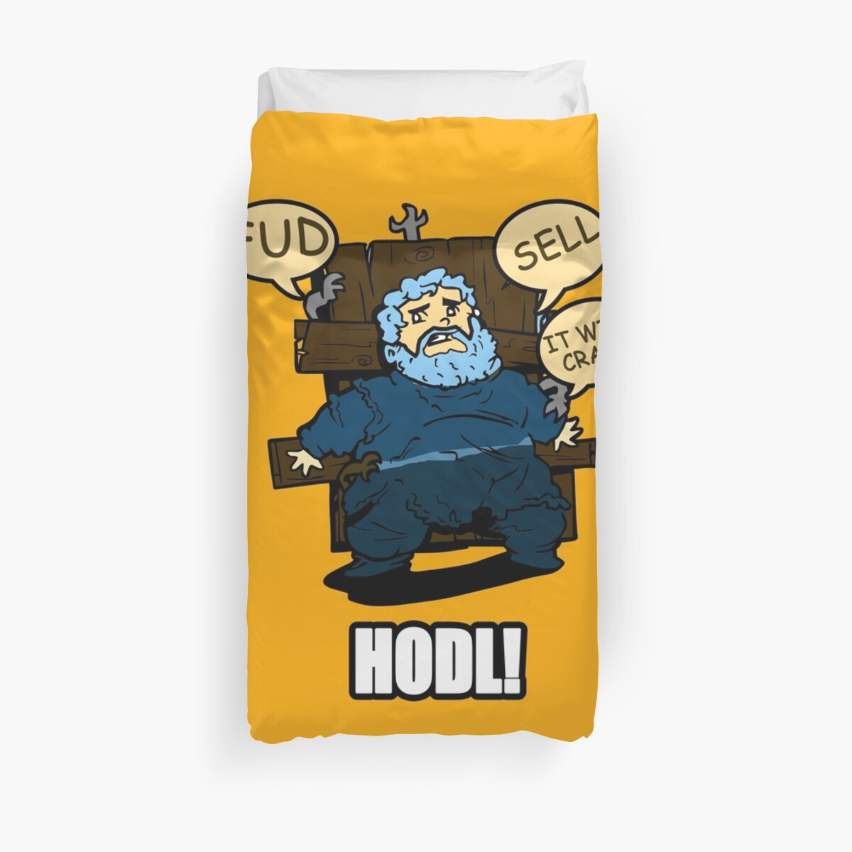 HODL It will crash Funny Bitcoin T shirt Design by hip-hop-art