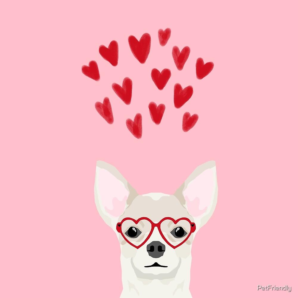 Chihuahua head dog gifts valentines day love hearts chihuahuas chiwawa by PetFriendly