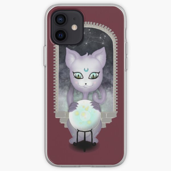 Mystic Miku | Crystal Ball & Zodiac | Wine Red iPhone Soft Case