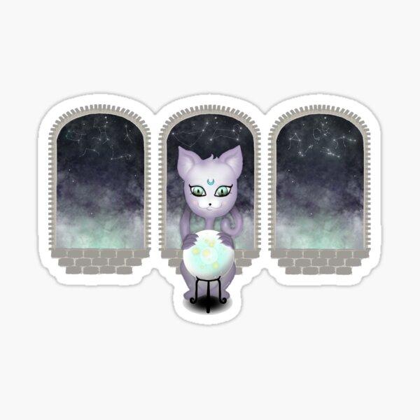 Mystic Miku | Crystal Ball & Zodiac | Wine Red Sticker