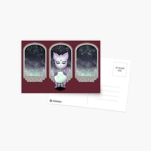 Mystic Miku | Crystal Ball & Zodiac | Wine Red Postcard