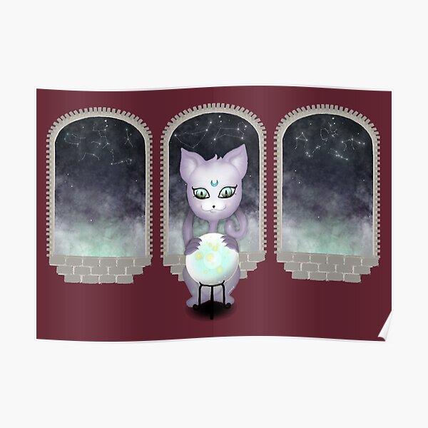 Mystic Miku   Crystal Ball & Zodiac   Wine Red Poster