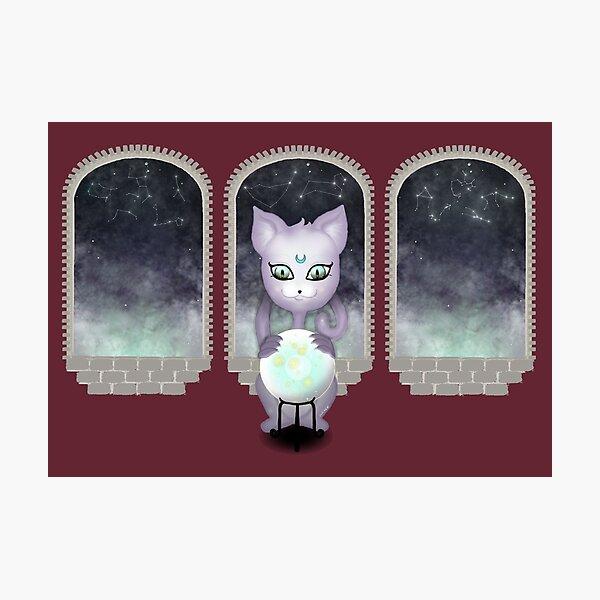 Mystic Miku | Crystal Ball & Zodiac | Wine Red Photographic Print