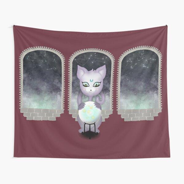 Mystic Miku | Crystal Ball & Zodiac | Wine Red Tapestry