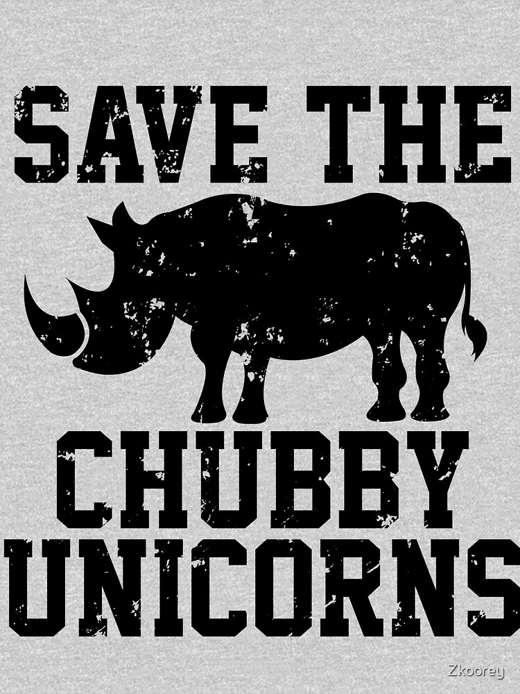 Save the Chubby Unicorns Rhino by Zkoorey
