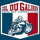 Col du Galibier 02 Motorcycle T-Shirt & Sticker - Route des Grandes Alpes by ROADTROOPER