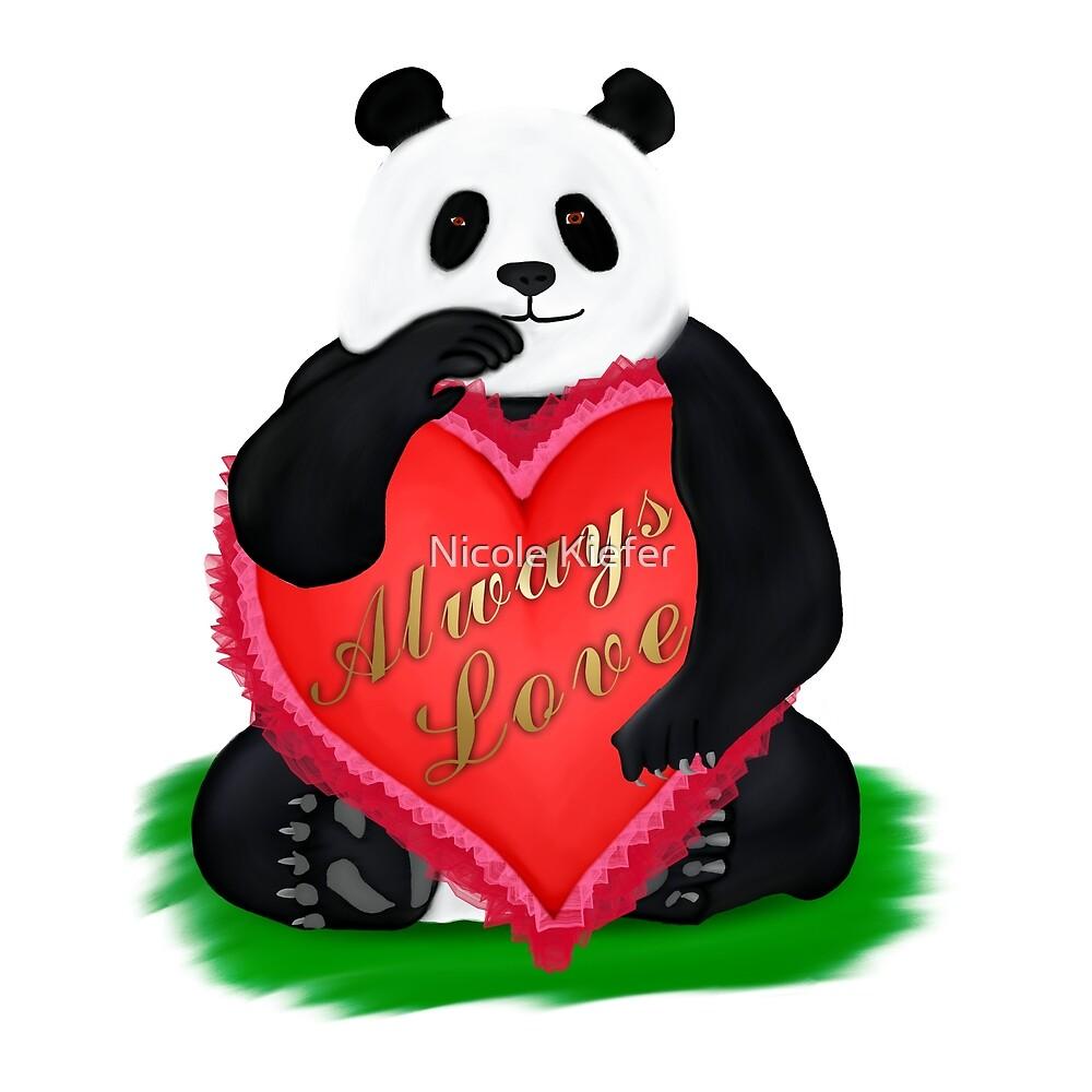 Valentine Panda by Nicole Kiefer
