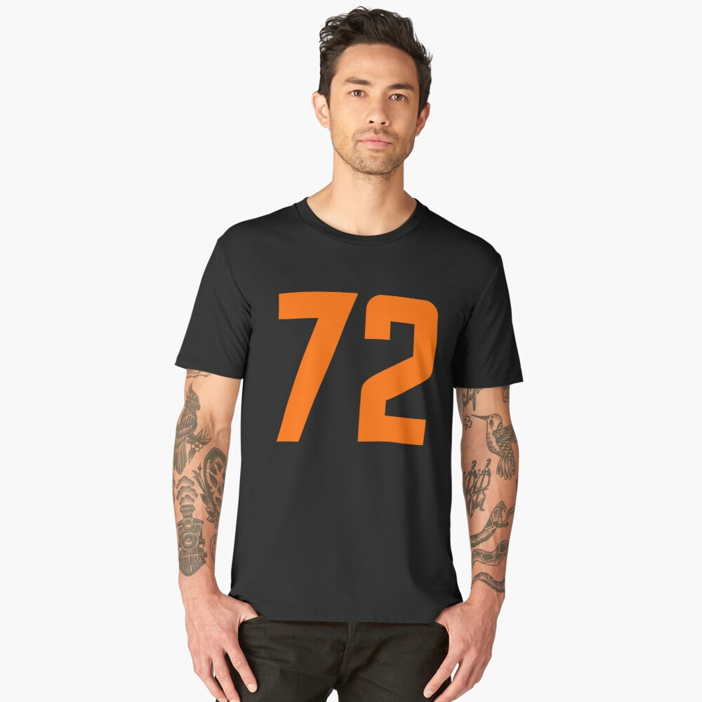 Orange Number 72 Men's Premium T-Shirt Front