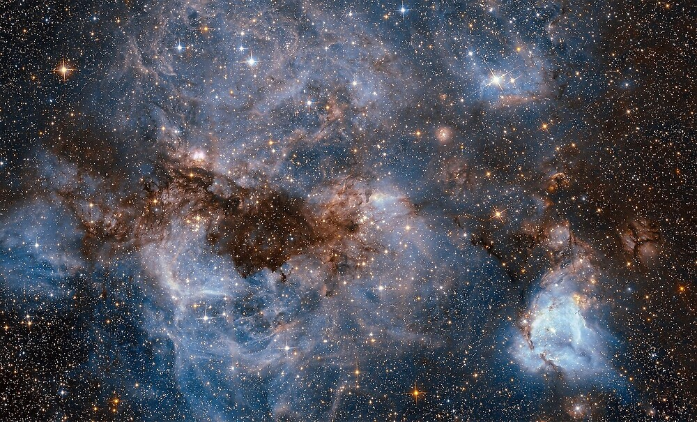 Hubble Peers into the Storm, the Large Magellanic Cloud (LMC).  by TOM HILL - Designer