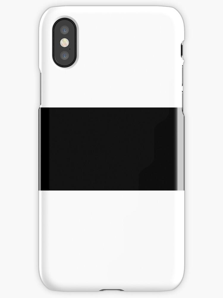 White/Black Colorblock Stripe by sidebar
