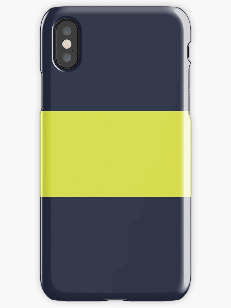 Navy Blue/Yellow Colorblock Stripe by sidebar
