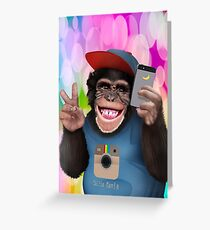 Monkey greeting cards redbubble funny cute selfie apes greeting card m4hsunfo