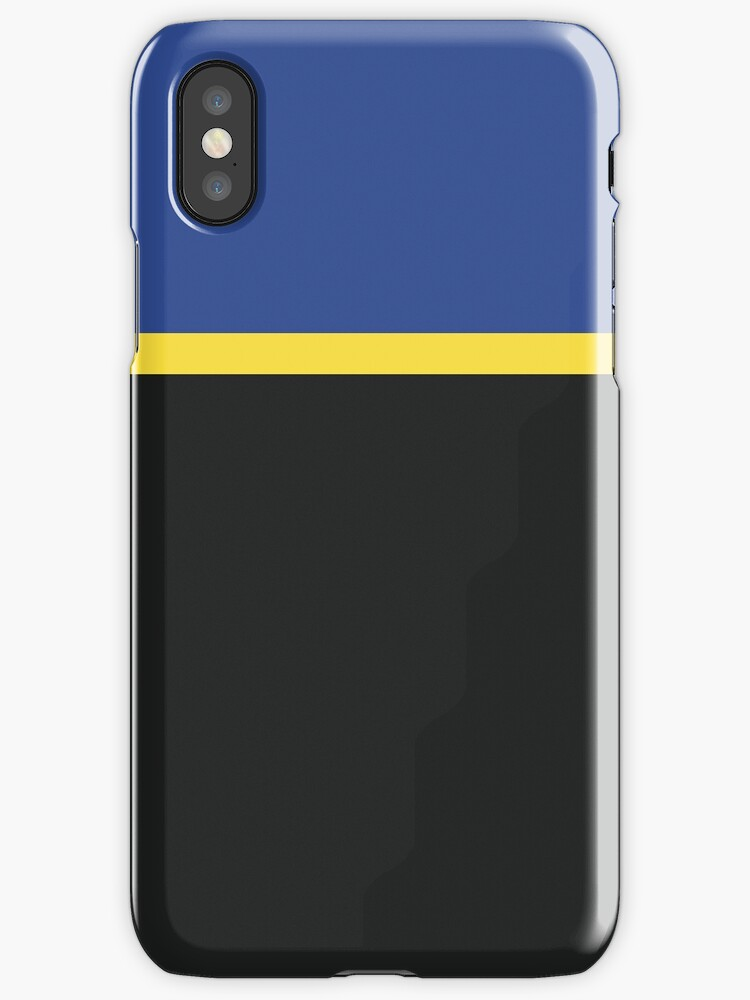 Royal Blue/Yellow/Black Colorblock by sidebar