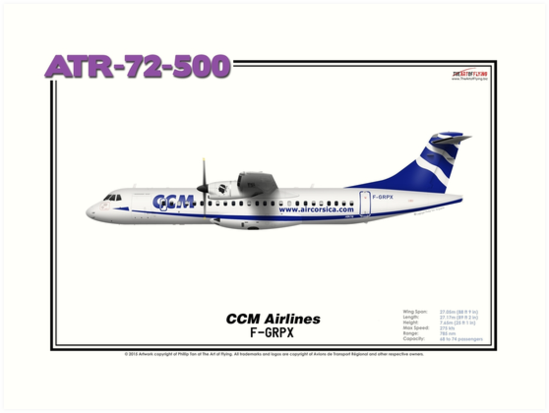 ATR 72-500 - CCM Airlines (Art Print) by TheArtofFlying