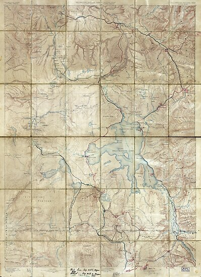 Map of Yellowstone National Park (1886) by allhistory