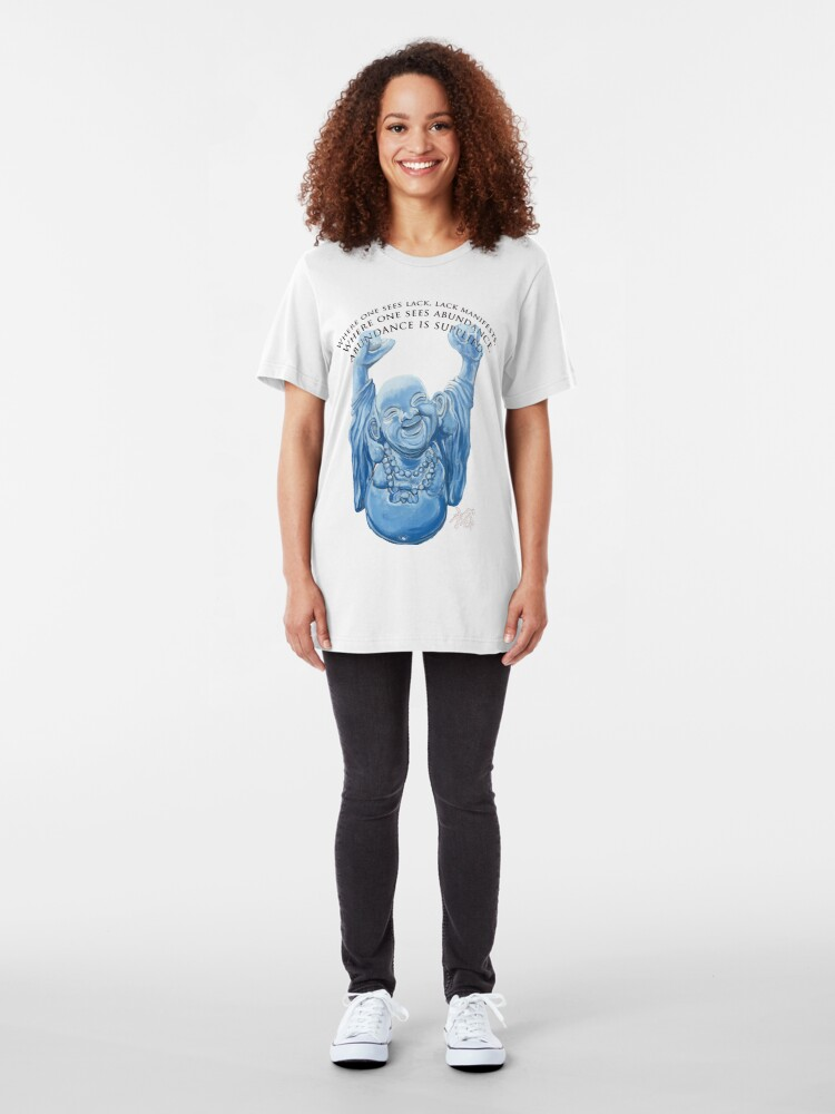 Alternate view of Abundance Buddha Slim Fit T-Shirt