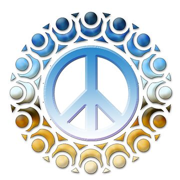 t-shirts with peace logo and soldiers by oscarmega