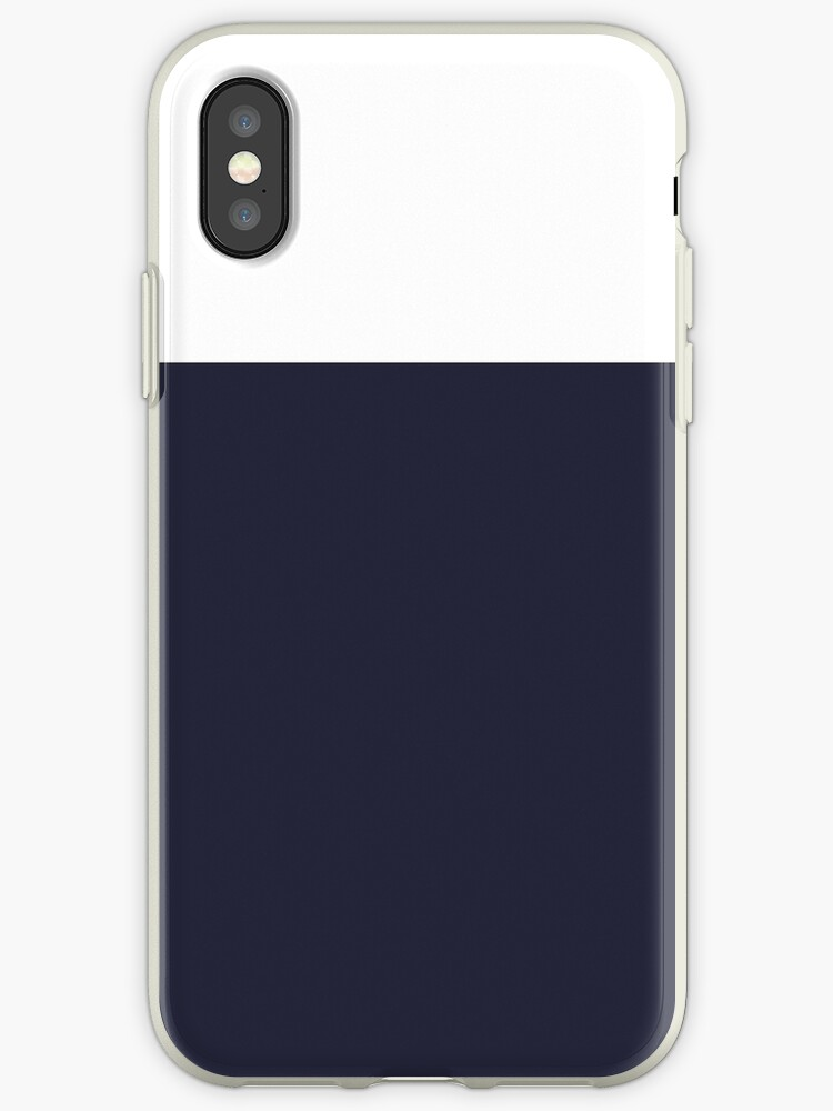 White/Navy Blue Colorblock by sidebar
