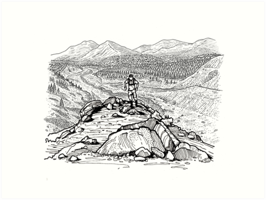 Mountain Trail Runner by drawntosketch