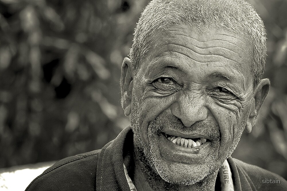 man with a smile by sibtain
