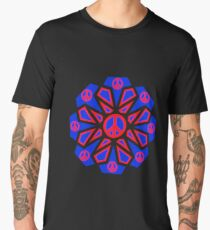 t-shirts with blue and red peace logo Men's Premium T-Shirt