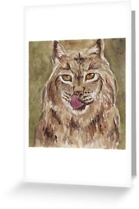 Watercolour Lynx Cat by sunnyphotos